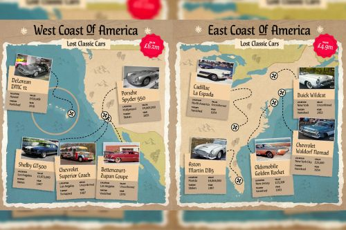 $200 million treasure map shows last location of famous missing cars