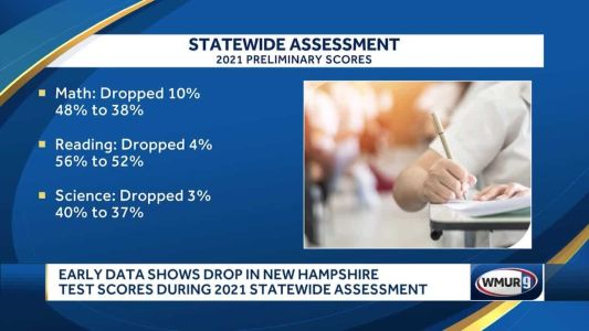 Math, reading, science scores drop in New Hampshire schools