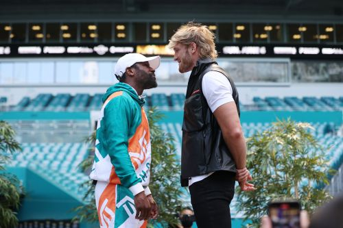 Logan Paul didn't seem to mind Jake Paul stealing his shine with Floyd Mayweather brawl
