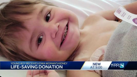 Toddler is thriving after receiving Iowa woman's kidney