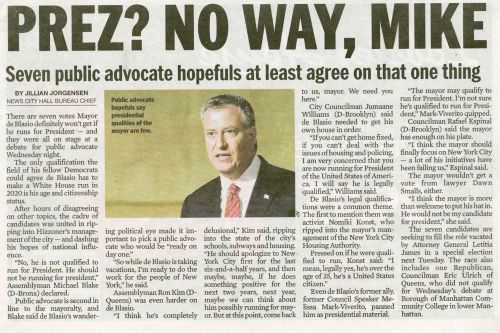 Daily News confuses de Blasio with Bloomberg in headline