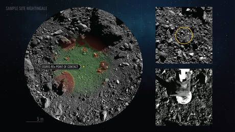Greedy grabber: NASA scrambles to return jam-packed asteroid sampler to Earth as rock dust escapes from ship's overstuffed 'belly'