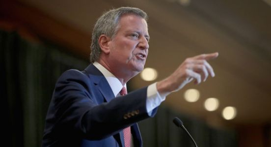 De Blasio unveils first major policy proposal at union headquarters in D.C