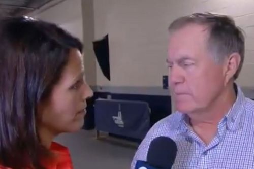 Bill Belichick gives reporter death stare over Antonio Brown question