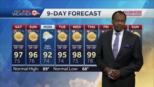 Serious heat: Saturday's highs will be in the upper 90s