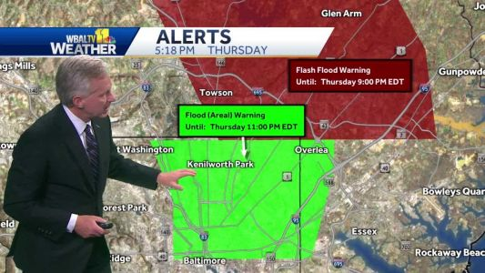 Chance of flooding continues through Thursday evening