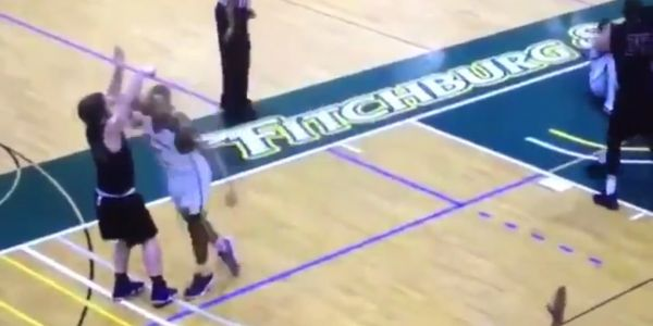 College basketball player suspended and barred from campus after dirty elbow to opponent's face