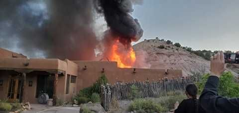 Structure burns at historic Ojo Caliente Mineral Springs & Spa near Taos