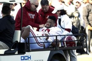 Tagovailoa out for season after hip injury vs Mississippi St
