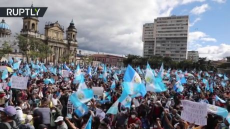 Protesters TORCH Guatemala's parliament building amid fury over budget cuts