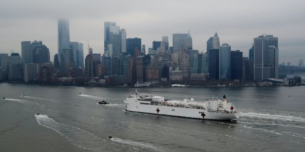 The 1,000-bed Navy hospital ship in NYC was meant to help relieve overburdened hospitals. So far it's just 2% full, and a hospital director called it a 'joke.'