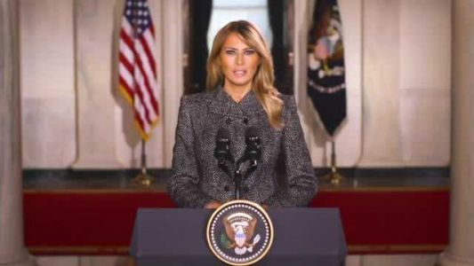 First Lady Melania Trump tweets farewell video as she prepares to leave the White House