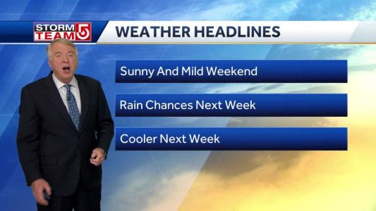 Video: Evening clouds, sunny for Friday