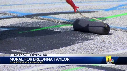 Volunteers, artists paint mural for Breonna Taylor in Annapolis