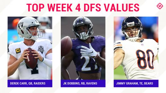 Week 4 NFL DFS Picks: Best value players, sleepers for DraftKings, FanDuel daily fantasy football lineups
