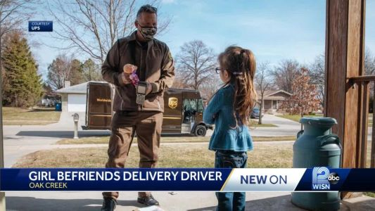 Unlikely friendship: 5-year-old girl, UPS driver share special bond