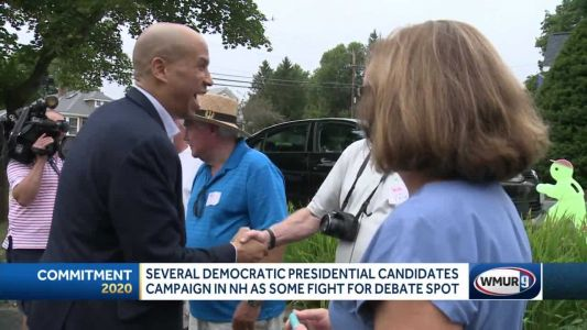 Booker, Delaney, de Blasio among candidates crisscrossing NH this weekend