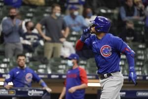 Plunked again, Contreras hits back with HR, Cubs beat Brews