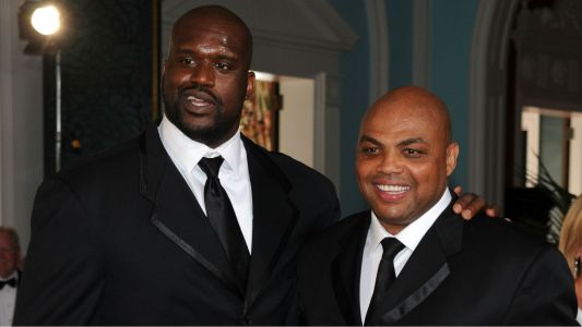 Watch Shaq give Charles Barkley a massage, help him fight an untimely cramp on 'Inside the NBA'