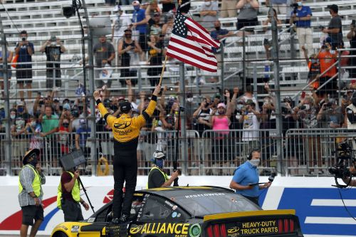 Keselowski wins in New Hampshire for 3d win since shutdown