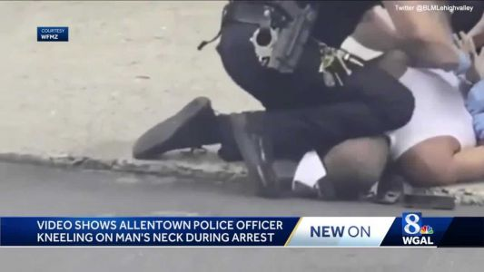 Multiple investigations after social media video of Allentown police kneeling on man sparks protest