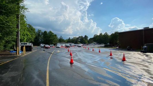 Busy pop-up COVID-19 testing site shutters early due to nasty storms