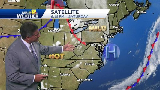 Isolated showers possible in some areas overnight