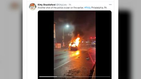 Riots & looting in Philadelphia after black man armed with knife shot dead by police