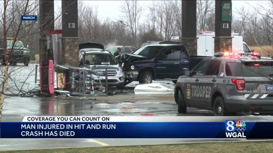 Coroner: Man injured in March hit-and-run crash at Sheetz has died