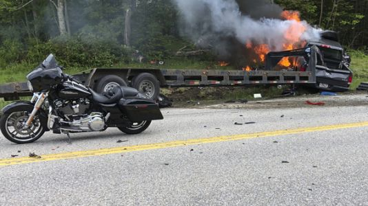 Pickup Truck In New Hampshire Collides With Marine Motorcycle Group, Leaving 7 Dead