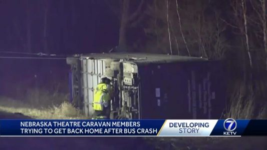 Production company steps in to help dozens of Nebraska Theater Caravan members stranded after bus crash