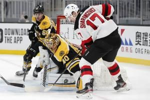 Wedgewood, Devils deny Bruins' Rask 300th career win