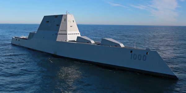 Watch the US Navy stealth destroyer Zumwalt fire off a missile for the first time