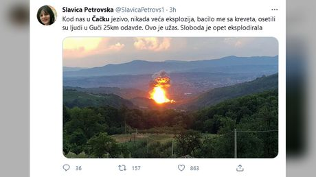 At least 3 injured & evacuation ordered after blasts rock Serbia ammunition factory for 2nd time in a MONTH