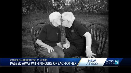'The Lord called them': Husband and wife married for 73 years die hours apart
