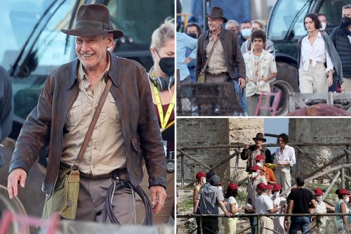 Harrison Ford back on 'Indiana Jones' set - and appears to be doing OK