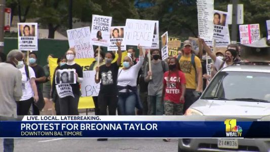 Protests held in Baltimore in solidarity with Breonna Taylor, BLM