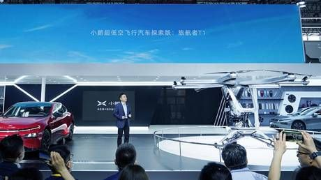 China's Xpeng unveils flying car prototype at major Beijing auto show