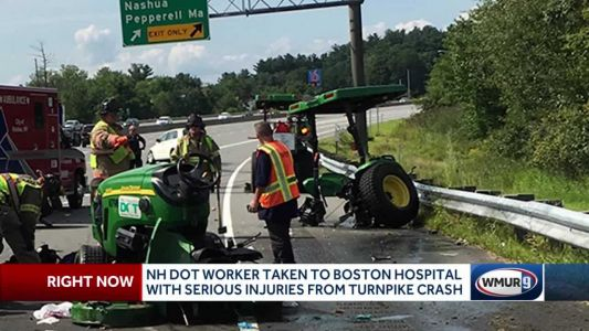 New Hampshire DOT suffers serious injuries from Everett Turnpike crash