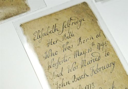 She brought a man's 250-year-old family Bible back to life