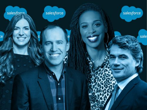 Meet the 13 Salesforce power players helping CEO Marc Benioff lead the cloud giant to hit its aggressive growth targets despite the turbulent economy