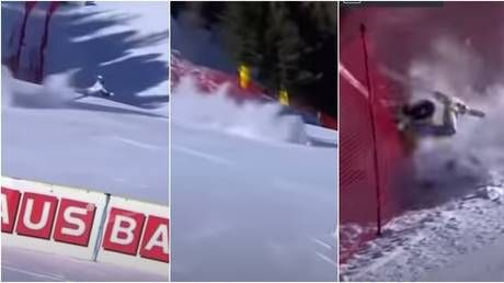 'Stomach-turning': Norwegian ski star airlifted to hospital after horrific crash leaves her screaming in agony