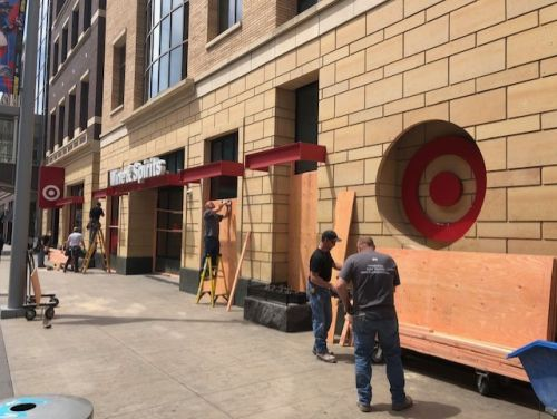MOA And Other Businesses Close Early, Stores Board Up In Anticipation Of Continuing Protests