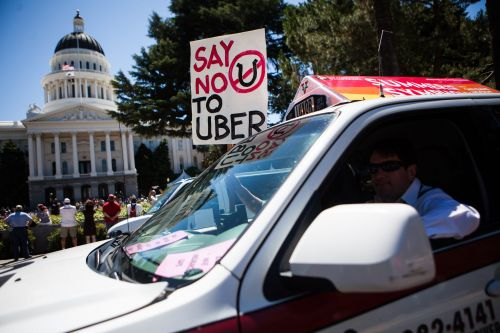 Uber CEO threatens to temporarily shut down the app in California over labor disputes