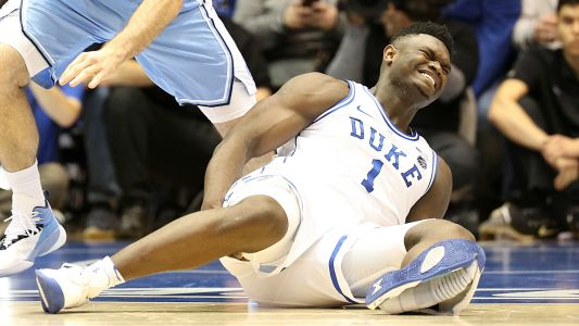 Zion Williamson injury shows Duke is not without flaw in loss to UNC
