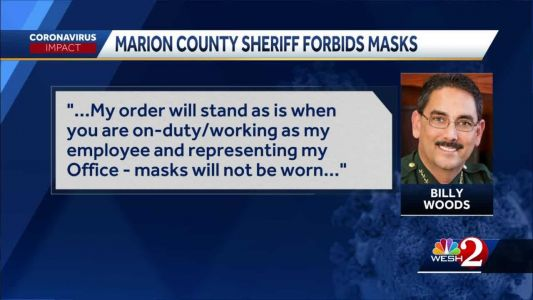 Marion County sheriff forbids masks for deputies, visitors of Marion County Sheriff's Office