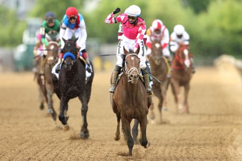 Rombauer stuns Medina Spirit with late charge to win Preakness Stakes