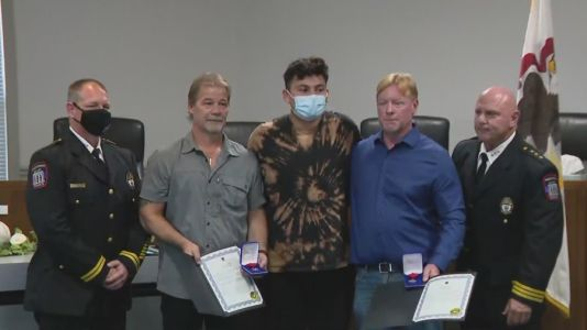 Two men honored for saving boy after paddleboat mishap in Wauconda lake