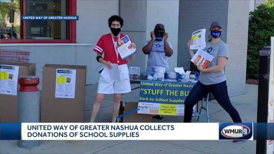 United Way of Greater Nashua holds 'Stuff the Bus' to collect school supplies