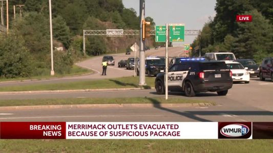 Merrimack Outlets evacuated due to suspicious package found